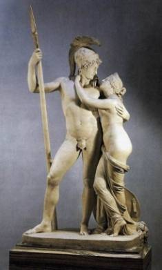 venus mars statue