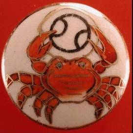cancer crab red background
