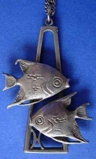 Vintage Pisces Necklace