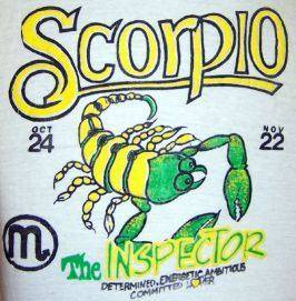 Vintage scorpio mug