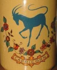 capricorn vintage mug