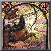 sagittarius man square poster