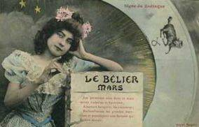 Aries vintage card