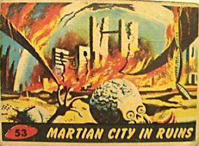 Mars city in ruins card