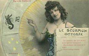 scorpio card vintage