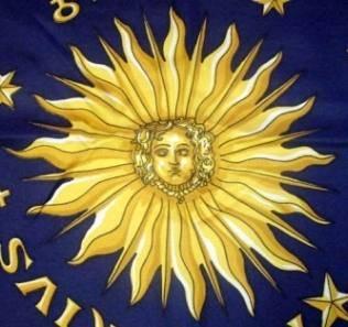 sun zodiac scarf vintage
