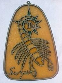 Vintage Scorpio suncatcher