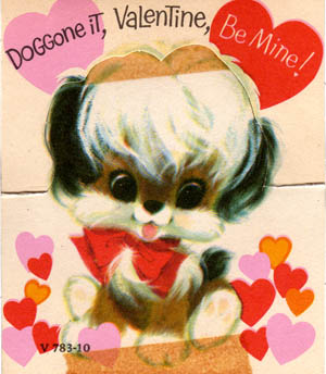 doggy valentine from the 70's