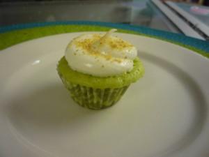 lime mini-cupcake