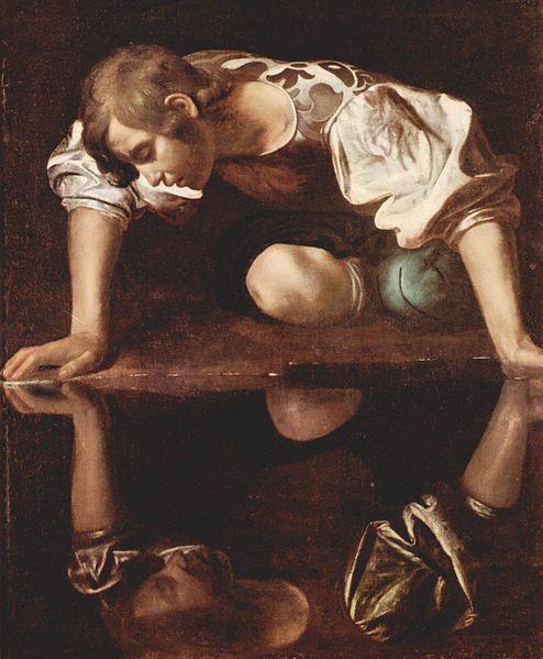 Narcissus by Michelangelo Caravaggio
