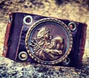 Neptune leather cuff
