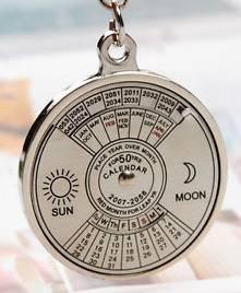 zodiac key chain calendar
