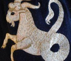 Capricorn embroidery