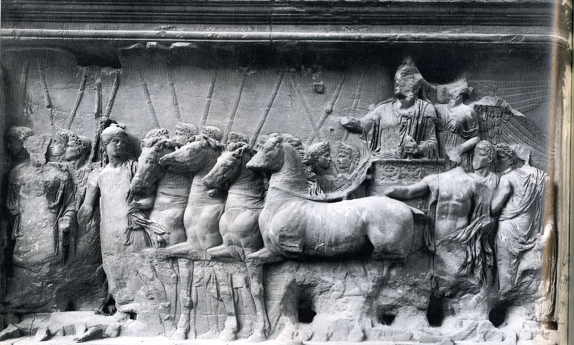 an introduction to the triumphal parade through the arch of titus in rome The arch of titus: rome and the menorah explores one of the most significant roman monuments to survive from antiquity, from the perspectives of roman, jewish and later christian history and art the arch of titus commemorates the destruction of jerusalem by the emperor titus in 70 ce, an event of .