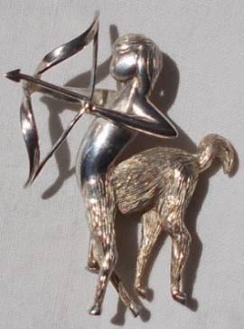 Vintage Sagittarius brooch