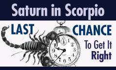 saturn in scorpio banner ad