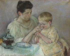 Mother Feeding Child 1898 Mary Cassatt