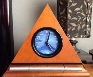 orange zodiac clock