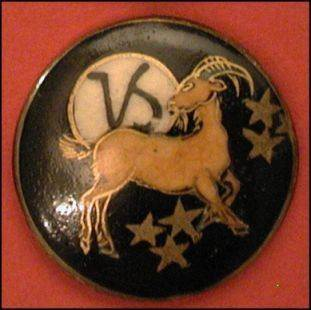 capricorn vintage button