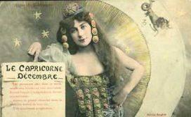 capricorn vintage card