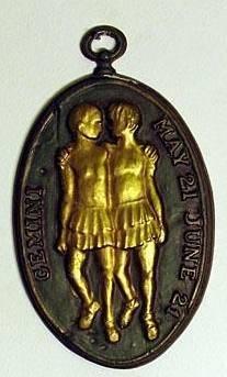 gemini vintage pendant