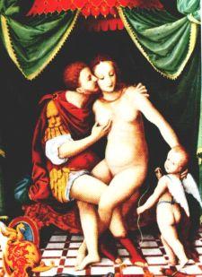 Venus, Mars and Cupid. School of Fontainebleau.JPG