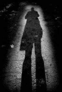 a man's shadow