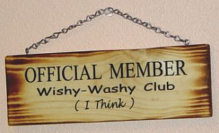 Wishy washy woman meaning
