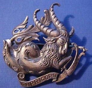 capricorn goat brooch