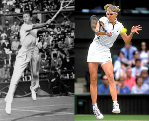 Don Budge and Steffi Graf