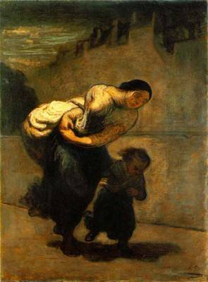 Honore Daumier The Laundress (The Burden)