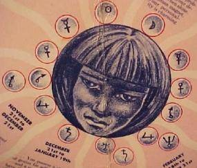 Zodiac vintage face
