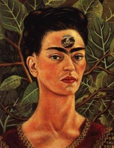 thinking about death  Frida Kahlo