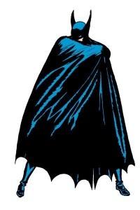 batman flinging open his cape