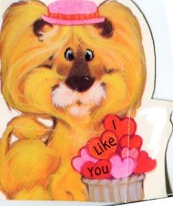 lion vintage valentine