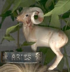 aries ceramic ram with bracelet