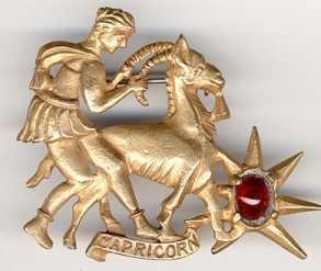 capricorn hattie carnegie brooch