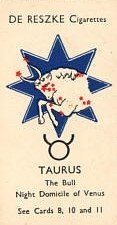 Taurus Vintage cigarette card