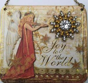 Joy to the world vintage purse