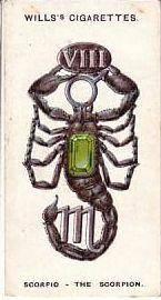 scorpio cigarette card