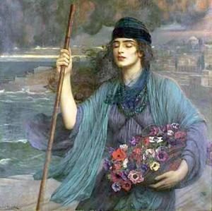 Nydia, la fille aveugle du tableau de Pompéi
