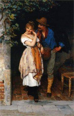 courting painting