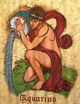 Aquarius vintage poster