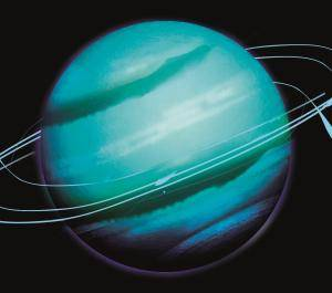 uranus glass coaster