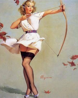 sagittarius vintage woman archer