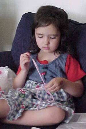 daughter sewing