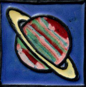 Saturn art tile