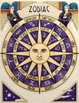 zodiac print vintage