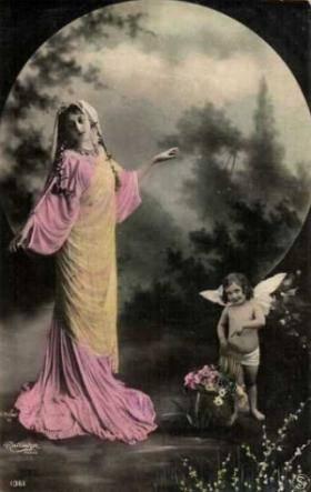 full moon woman angel