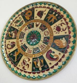vintage zodiac plate